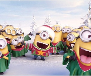 minions, christmas, and winter image