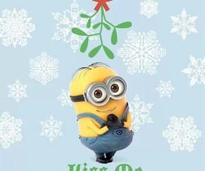 minions, kiss, and christmas image
