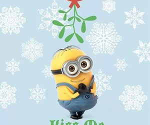 minions, kiss, and christmas image