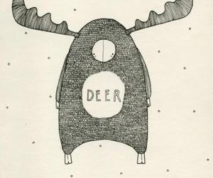 art, snow, and christmas image