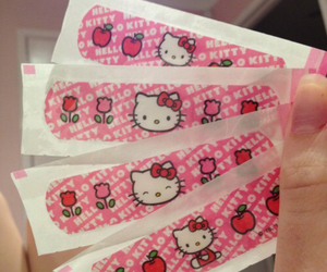 hello kitty, pink, and kawaii image
