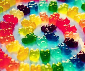 candy, bear, and sweet image