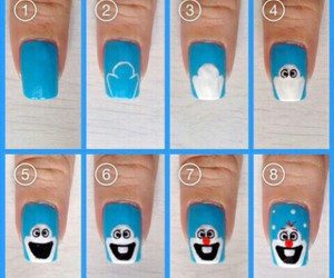 nails, olaf, and frozen image