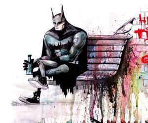 batman, hero, and art image