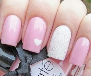 heart, cute nails, and nails image