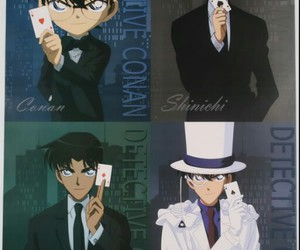 detective conan, heiji, and shinichi image