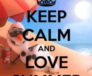 summer, olaf, and love image