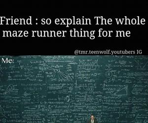true, tmr, and maze runner image