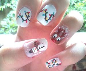 nail art, boneco de neve, and natal image