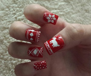 chrismas, red, and nails image