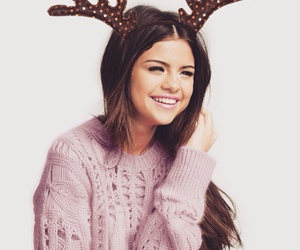 selena gomez, christmas, and smile image