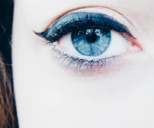 blue, eyes, and sky image