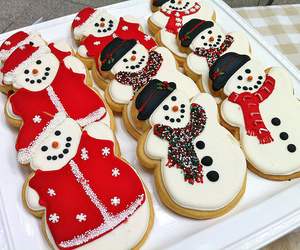 christmas, Cookies, and snowman image