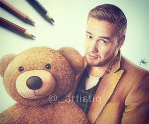 drawing, liam payne, and one direction image