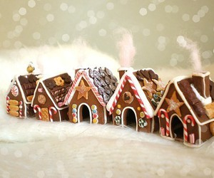 christmas, house, and gingerbread image