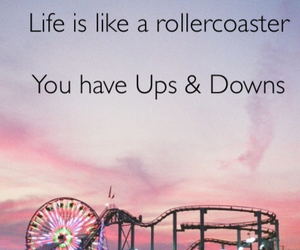 quote, rollercoaster, and life image