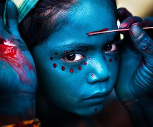facepaint and Hindu image