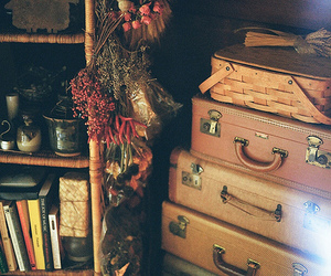 vintage, book, and suitcase image