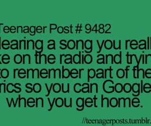 song, teenager post, and google image