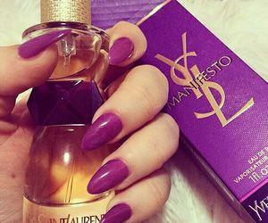 nails, YSL, and perfume image