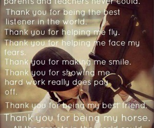 horse and thank you image