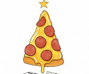 pizza, funny, and merry christmas image