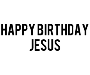christmas, jesus, and happy birthday image