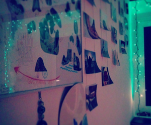 christmas, room, and lights image