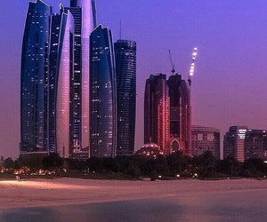 beach, Dubai, and sea image