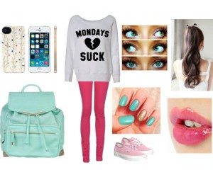 outfit, Polyvore, and sweet image
