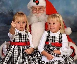 christmas, little girls, and funny image