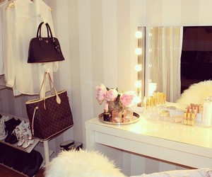 fashion, room, and makeup image