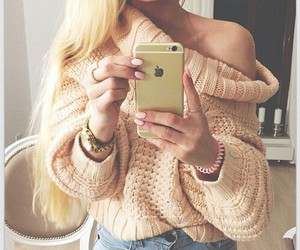 blonde, chic, and fille image