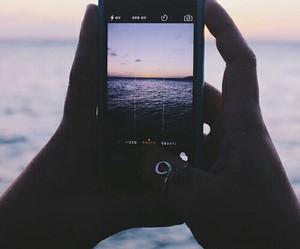 iphone, sea, and beautiful image