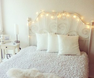 bed, cozy, and home decor image