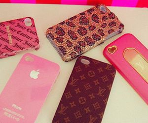 iphone, pink, and Louis Vuitton image