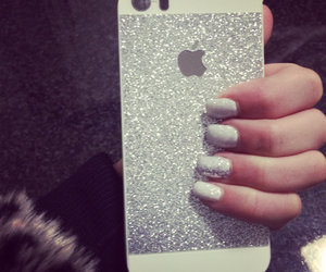 girl, nails, and silver image