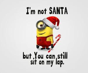 minions, funny, and santa image
