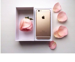 flowers, gold, and iphone image