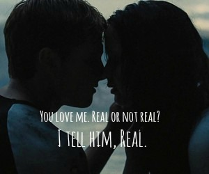 the hunger games, book quote, and soulmates image