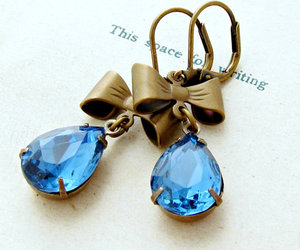 earrings, jewelry, and vintage image