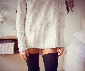 clothing, girl, and cozy image