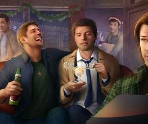 supernatural, castiel, and sam winchester image