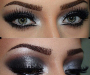 eyeshadow, lashes, and look image