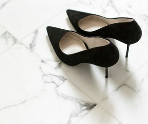 heels, pointy toe shoes, and black stilettoes image