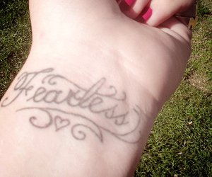 fearless, tattoo, and nails image