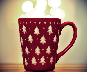 christmas, cup, and red image