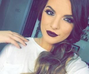 brunette and makeup image