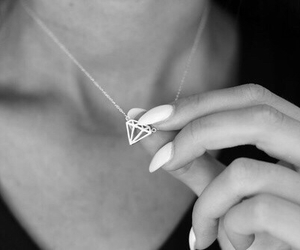 diamond, nails, and necklace image