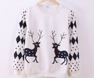 sweater, fashion, and deer image